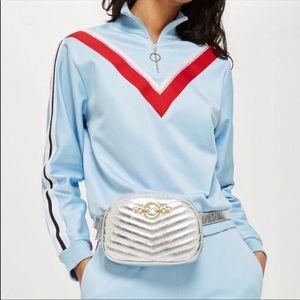 Topshop metallic silver belt bag shoulder bag